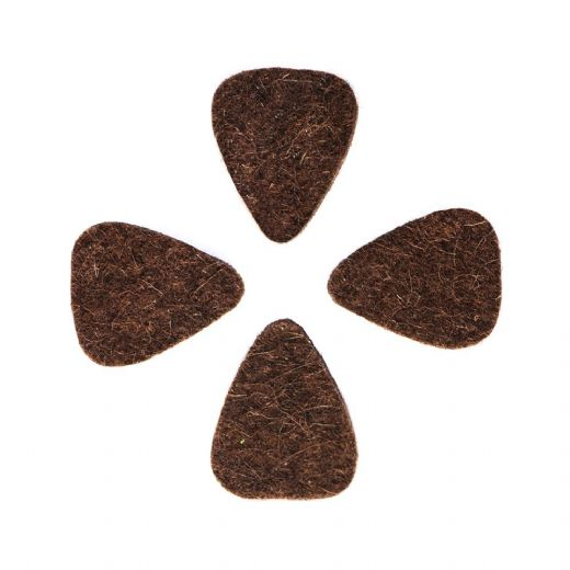 Felt Tones Mini Brown Wool Felt 4 Guitar Picks